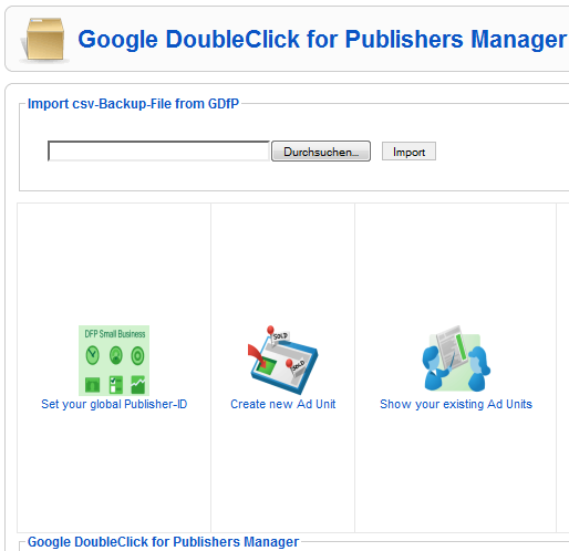 Google DoubleClick for Publishers Manager
